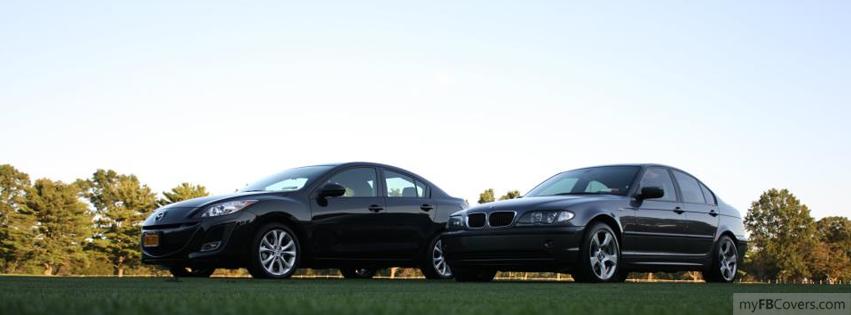 3 BMW 325xi ve Mazda 3 facebook kapak resmi