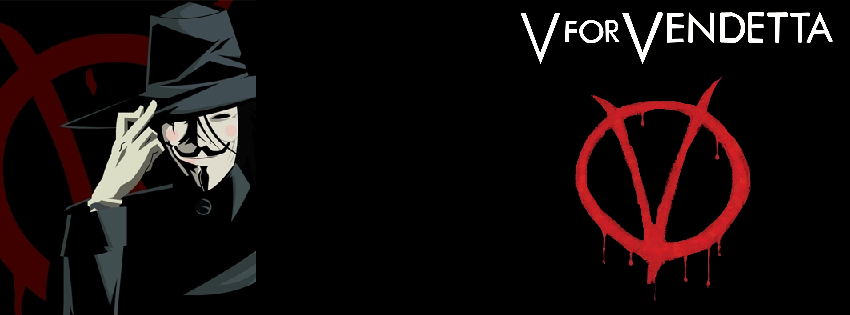 V For Vendetta Facebook cover