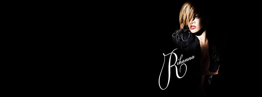 rihanna black facebook kapak