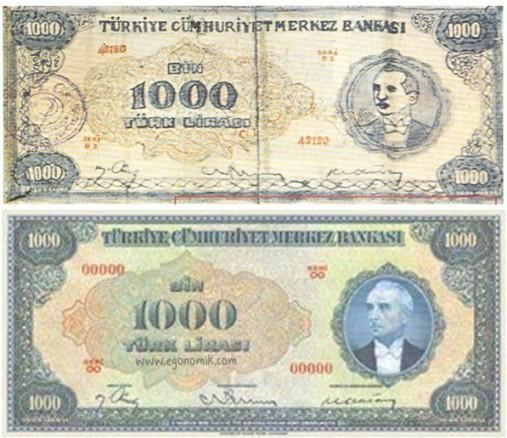 cumhuriyet tarihinin ilk sahte para