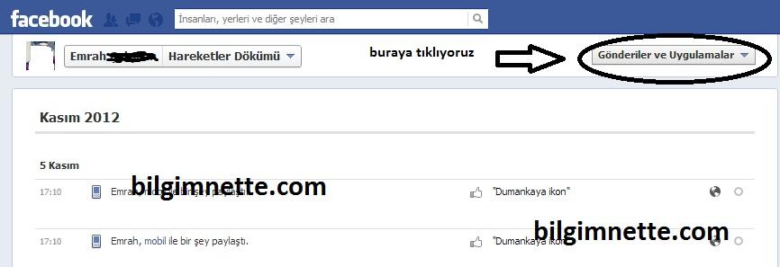 facebook-arama-gecmisini-silme
