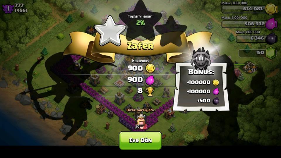 bonus ganimet clash of clans