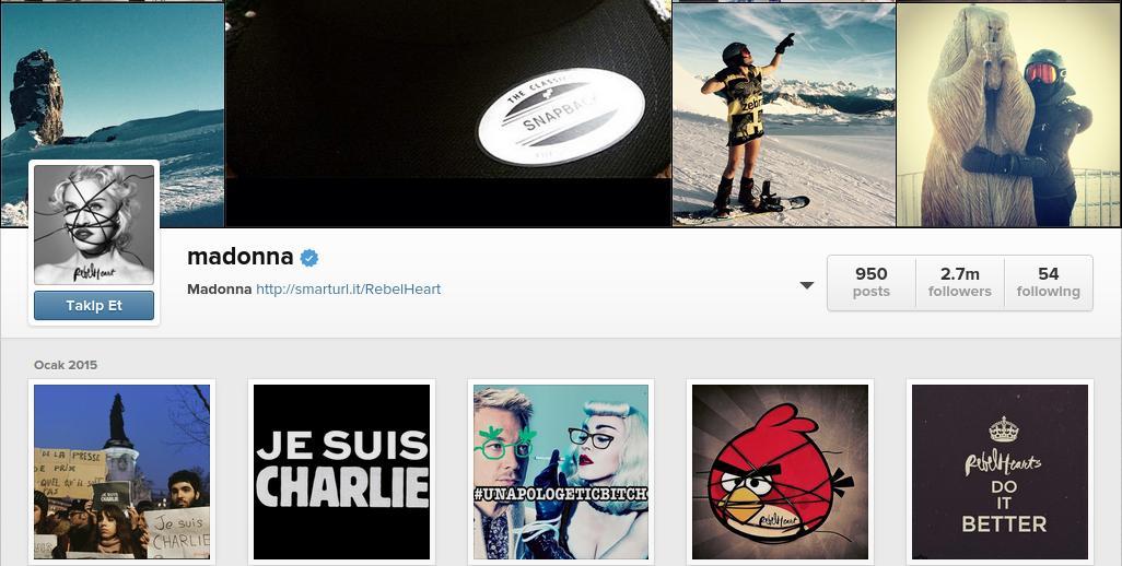 madonna instagram doğrulanmış hesap